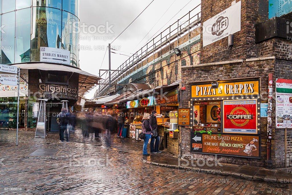 Food Stalls in Camden Lock stock photo