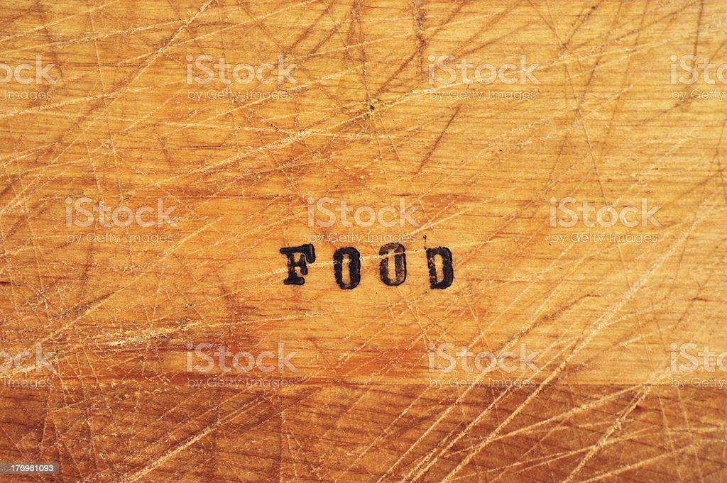 Food Stamp on Wood stock photo