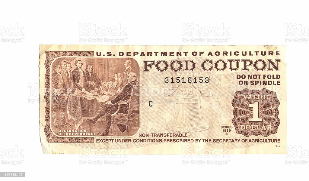 Food Stamp stock photo