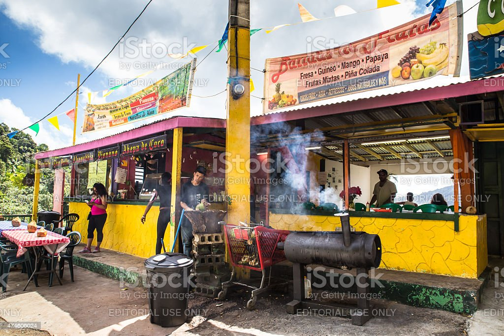 Food Stand El Yunque Rainforest Puerto Rico stock photo