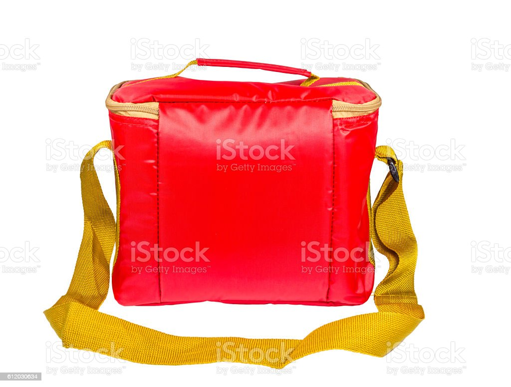 food storage red insulated bag stock photo