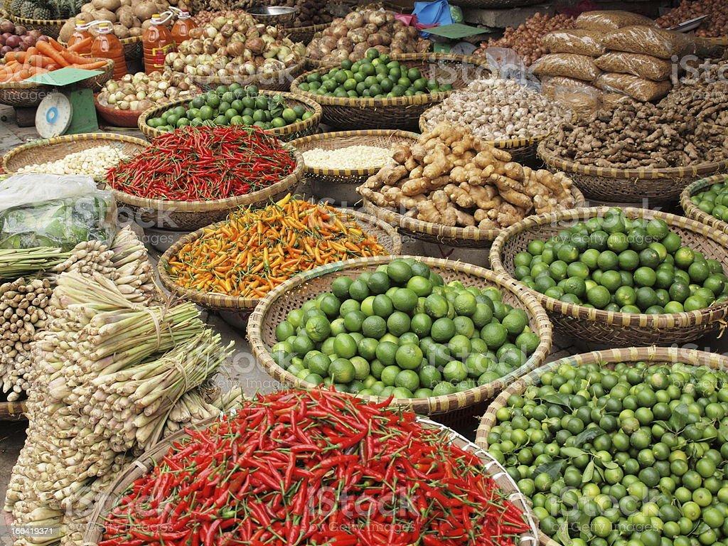 food street market stock photo