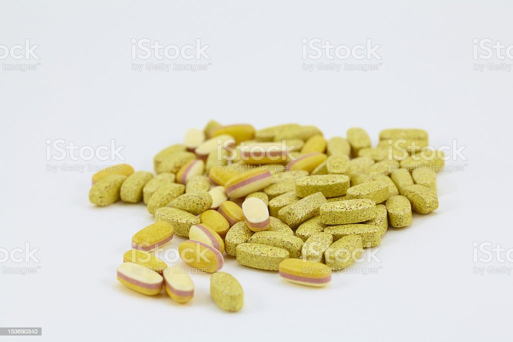 Food supplement pills royalty-free stock photo