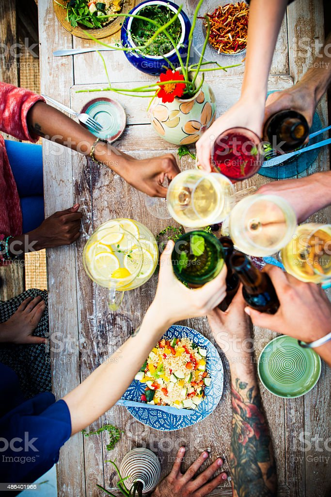 Food Table Healthy Delicious Organic Meal Concept stock photo