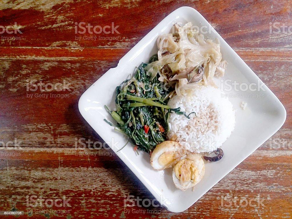 Food Thai in Asian. stock photo