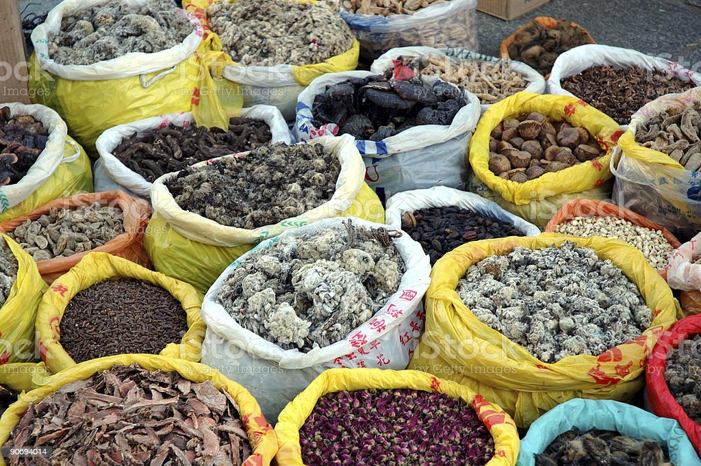 Food : Tibet Dried Goods and Spices royalty-free stock photo
