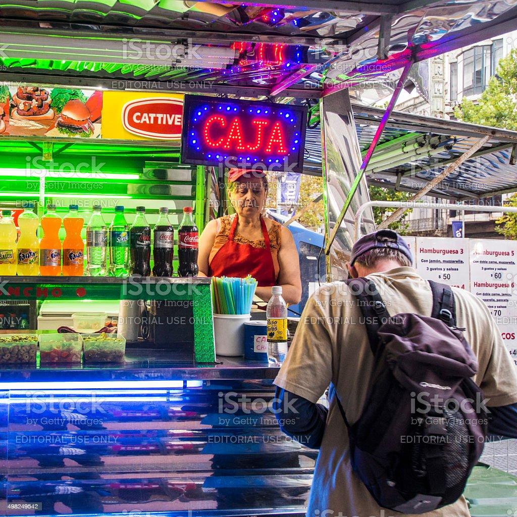 Food truck in Montevideo, Uruguay stock photo