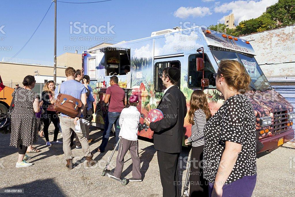 Food truck New York stock photo