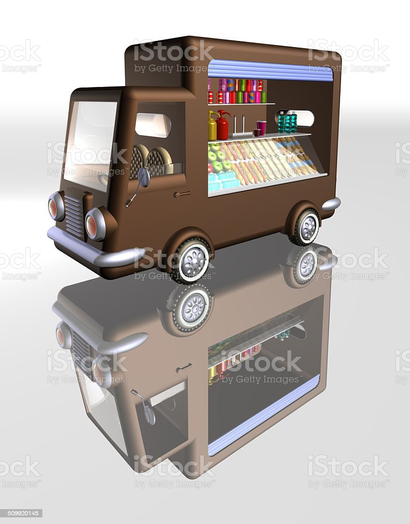 Food truck Open Front stock photo