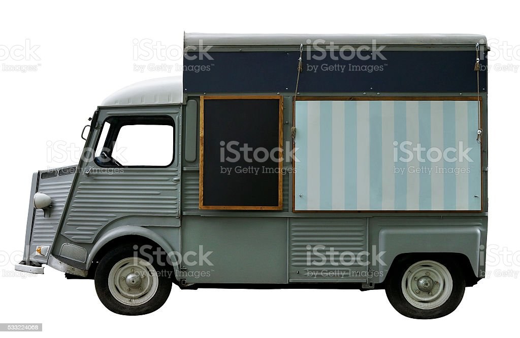 Food truck stock photo