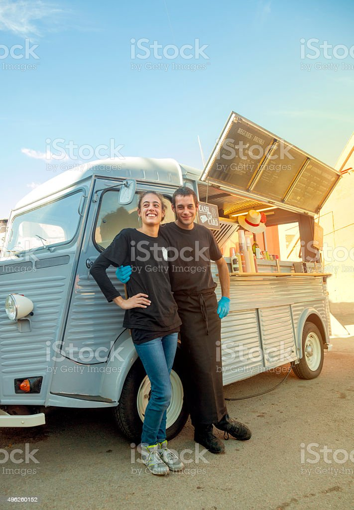 Food truck small business stock photo