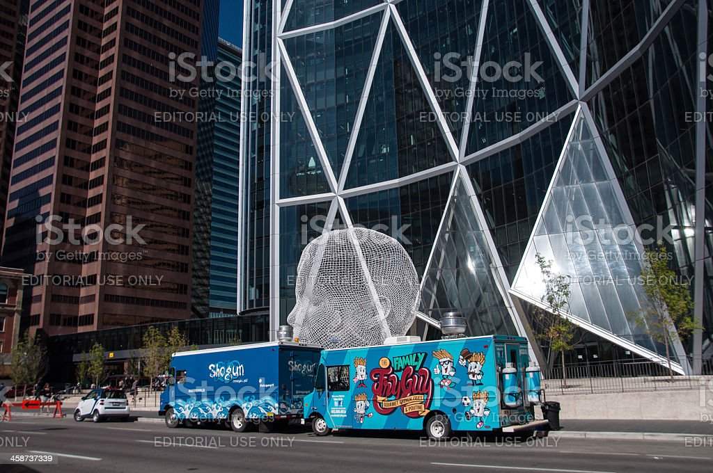 Food trucks, Calgary royalty-free stock photo