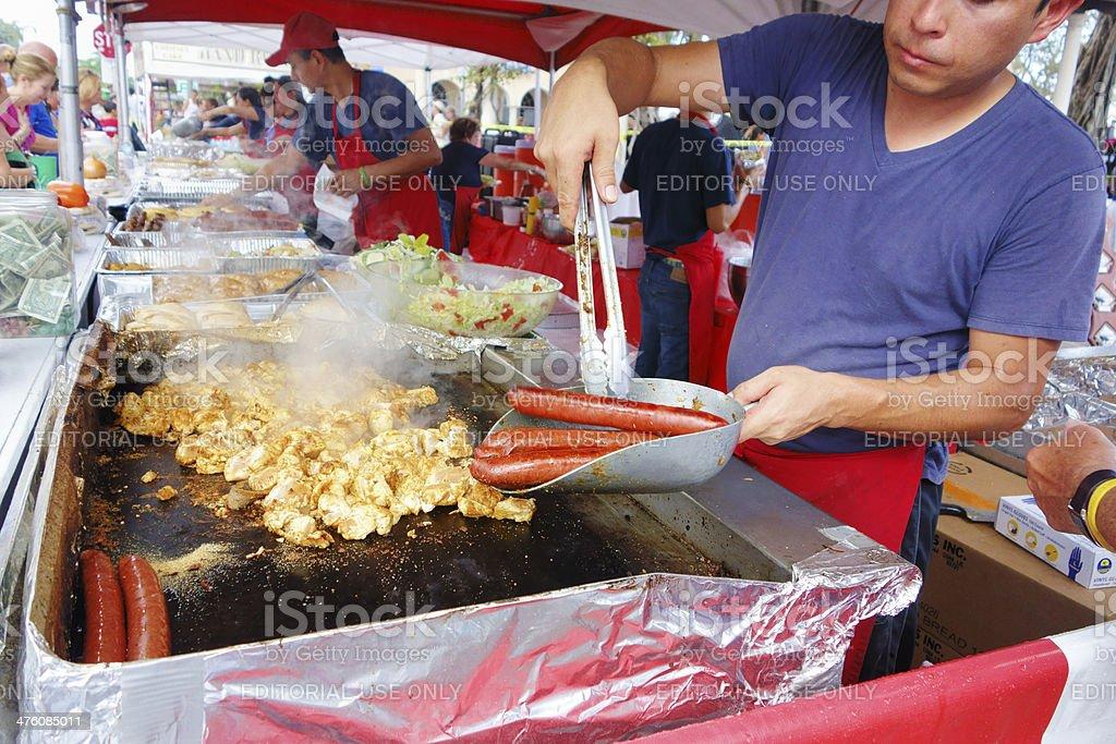 Food vendor at Lake Worth Street Painting Festival stock photo