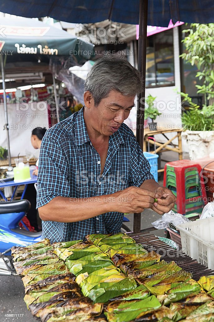 Food venor in Thailand royalty-free stock photo