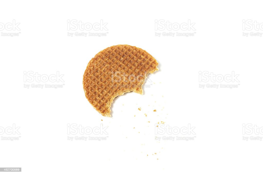 food waffle with caramel royalty-free stock photo