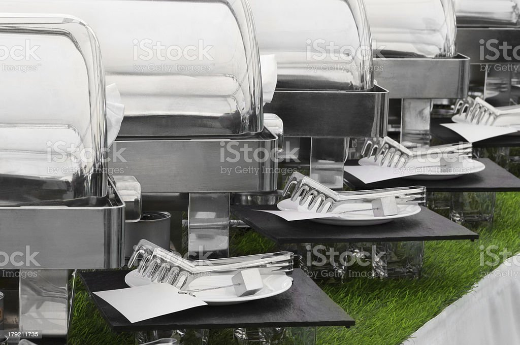 Food warmers stock photo