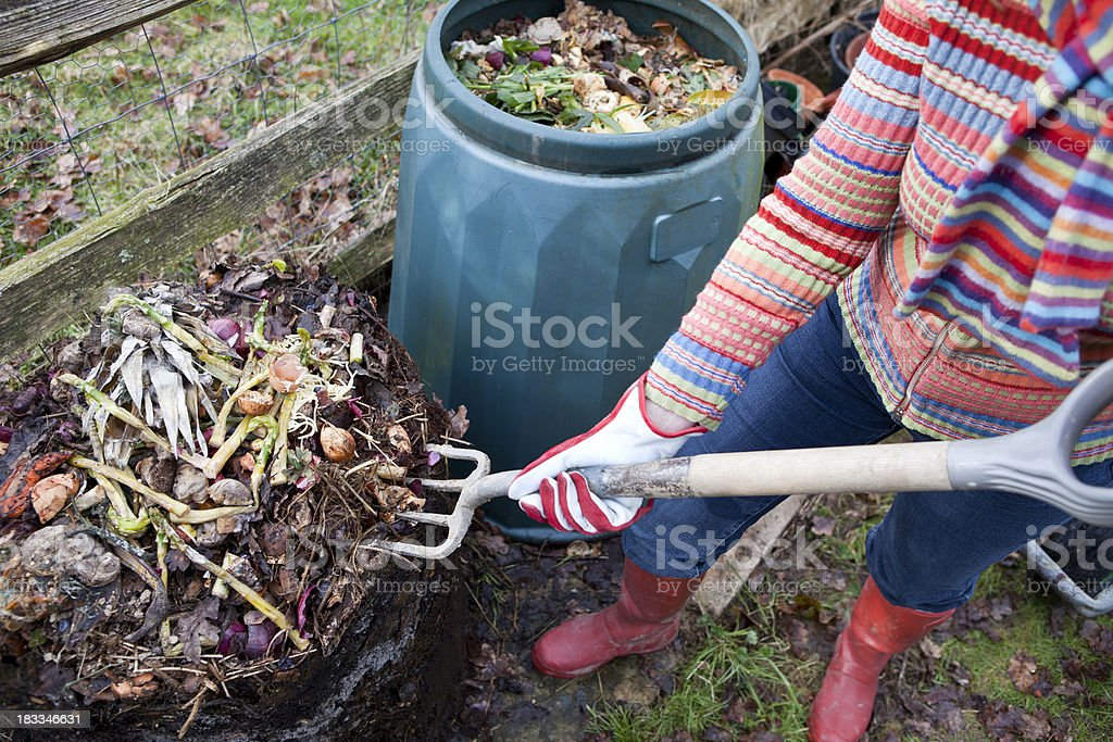 Food Waste Composting royalty-free stock photo