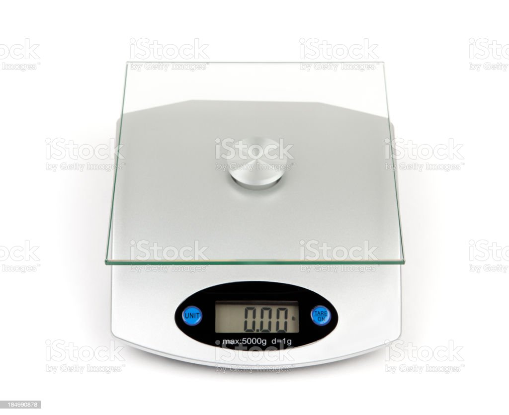 Food Weight Scale Isolated royalty-free stock photo