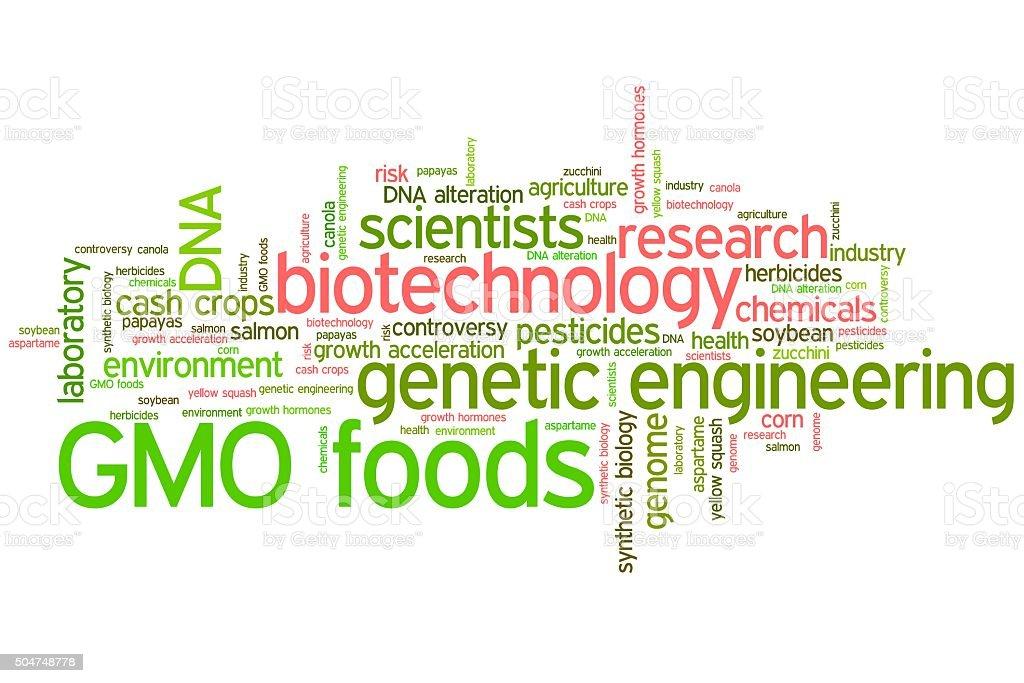 GMO foods stock photo