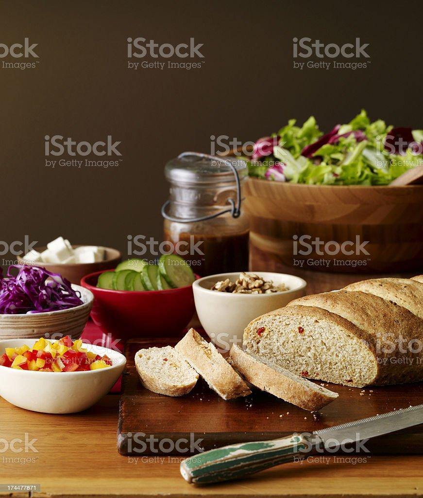 Food-Salad ingredients royalty-free stock photo