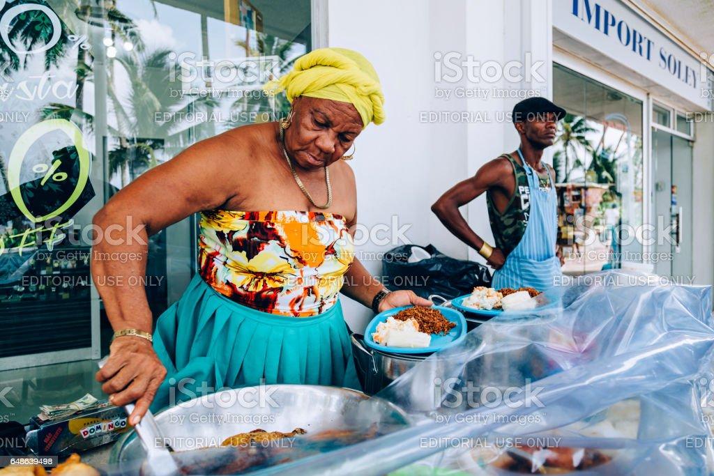 Foodstad at San Andrés stock photo