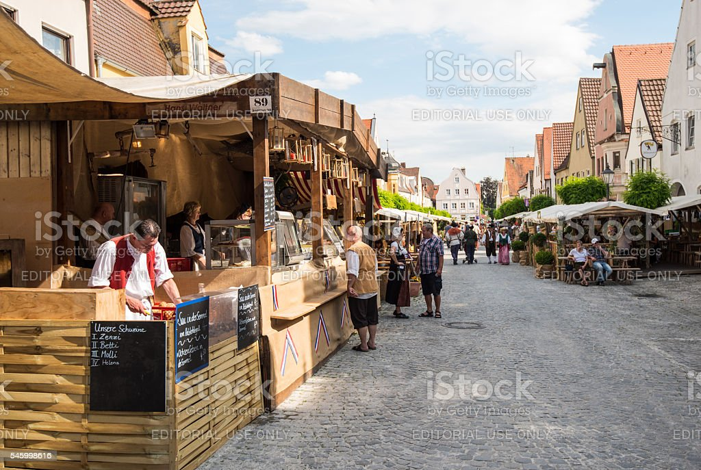 Foodstalls at historic festival stock photo