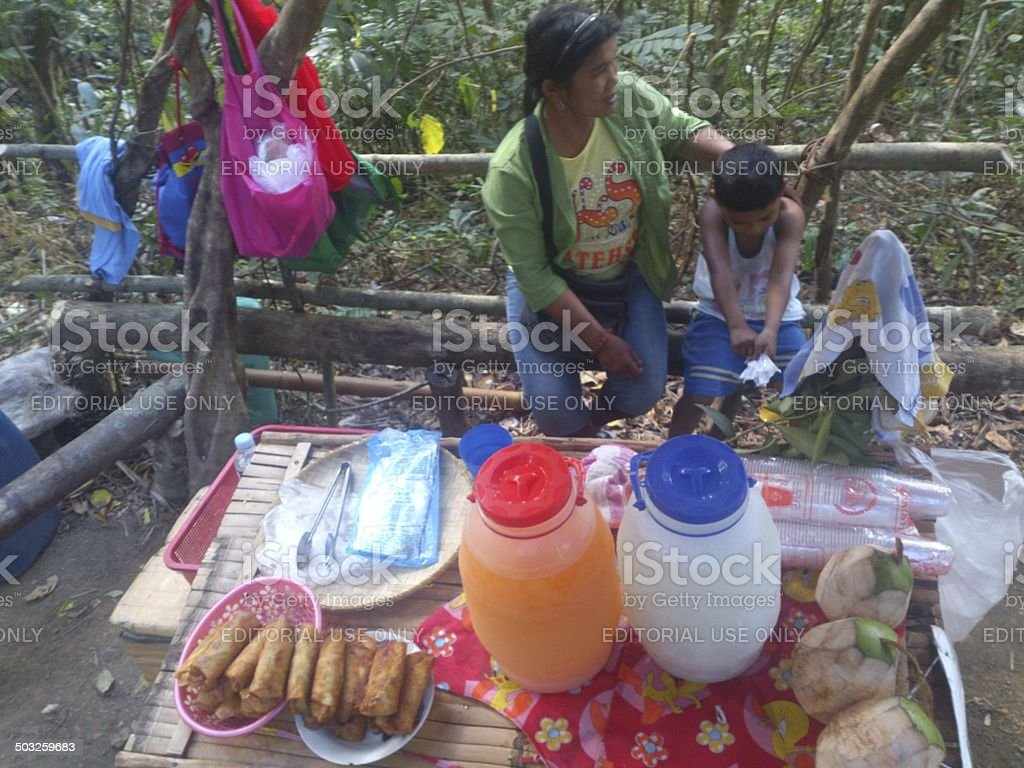 Foodstore at Mt. Maculot stock photo