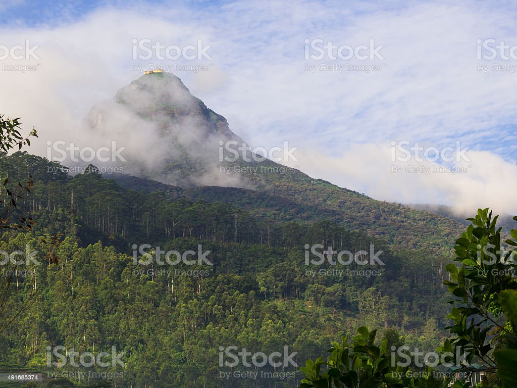 Foogi morning on Adam's Peak stock photo