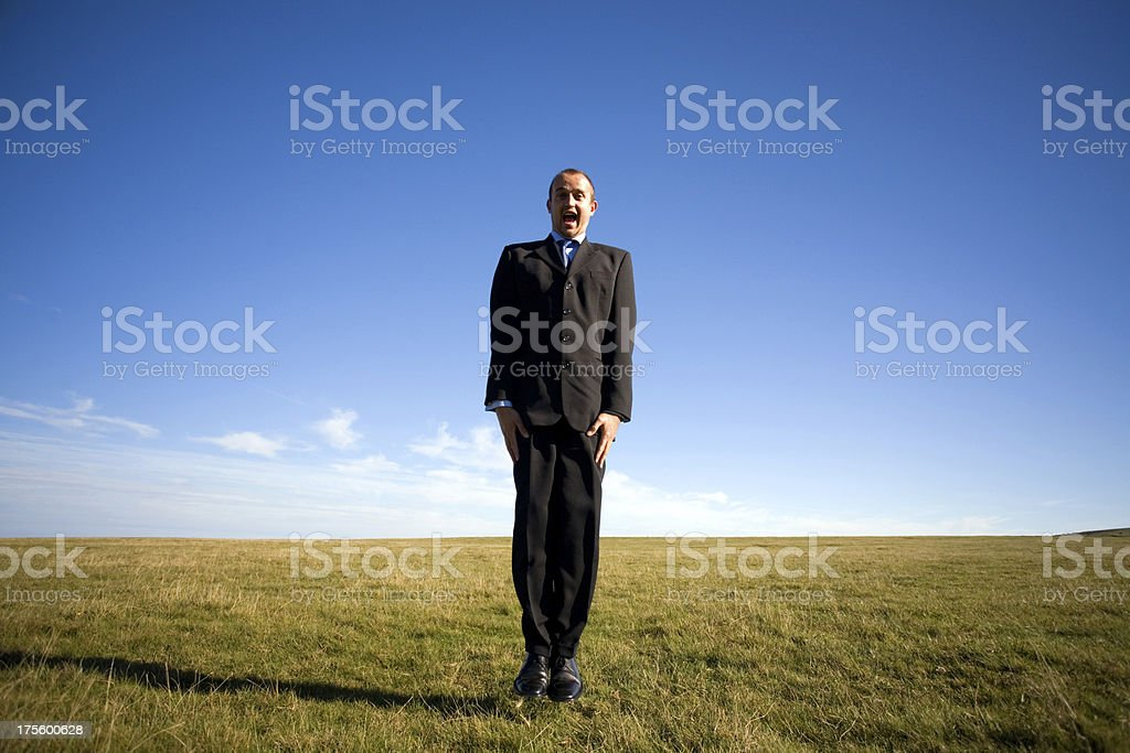 Fool on the hill royalty-free stock photo