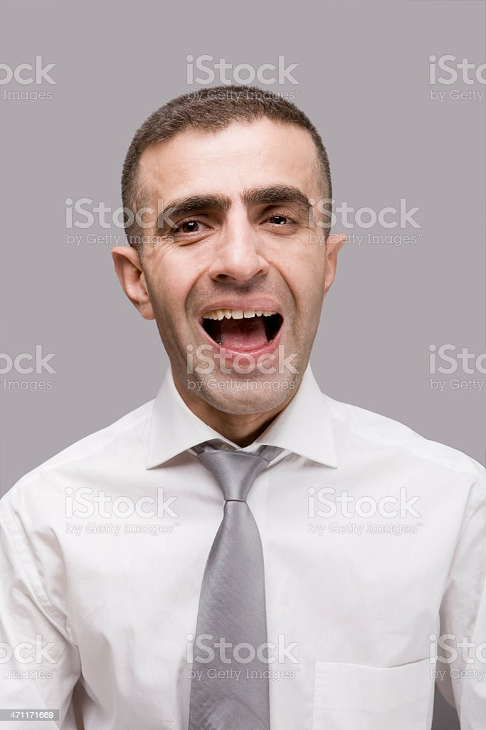 Foolish expression royalty-free stock photo