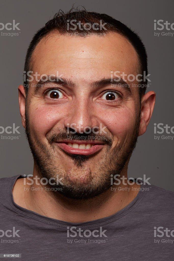 foolish man stock photo