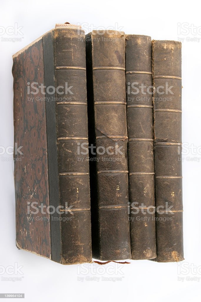 foor vintage books stock photo