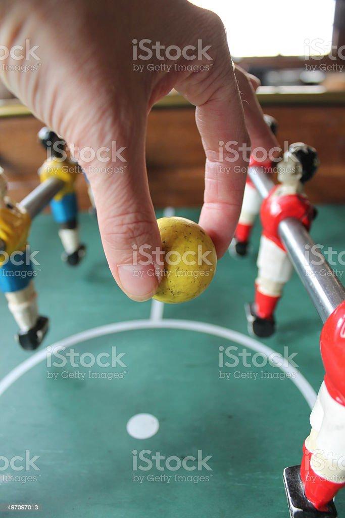 foosball football table stock photo
