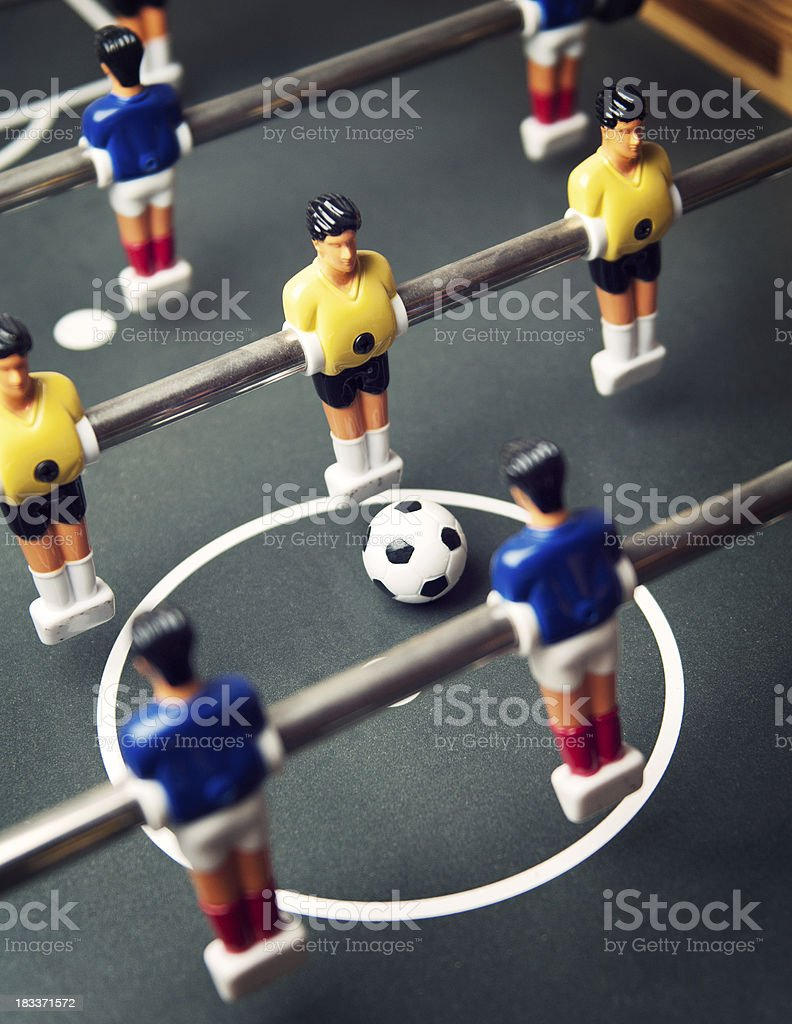 Foosball game royalty-free stock photo