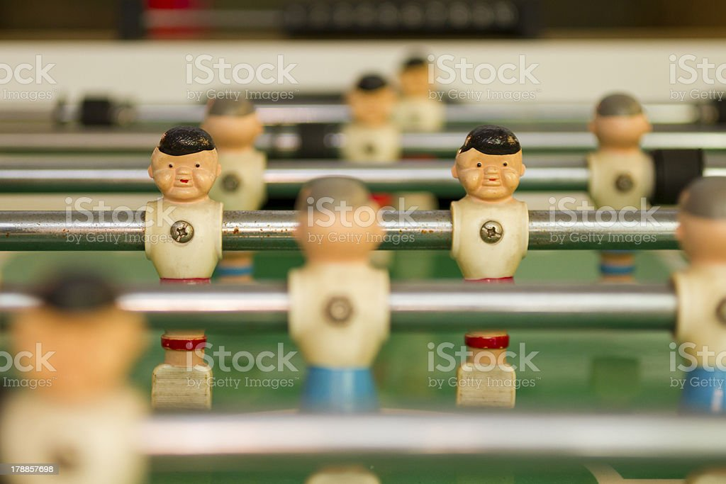 Foosball Players royalty-free stock photo