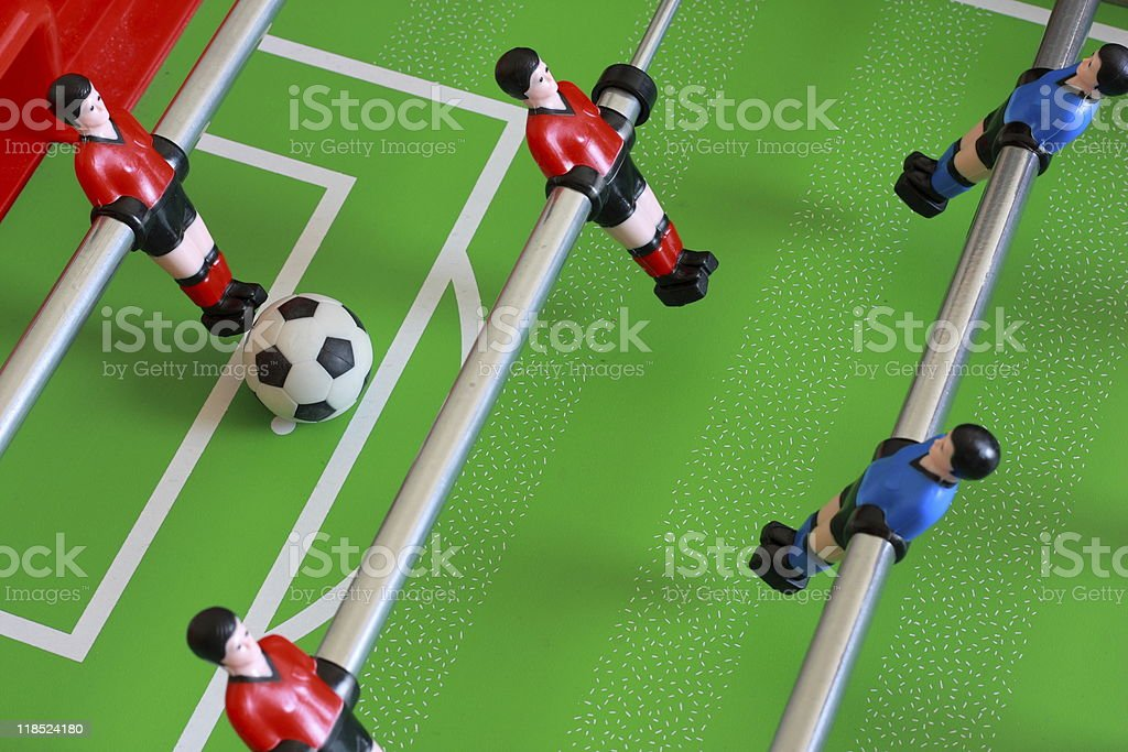 foosball table match royalty-free stock photo