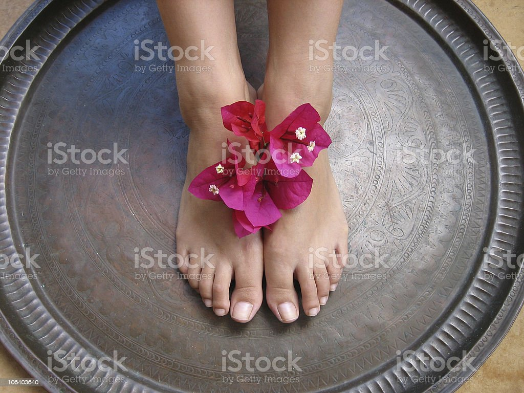 Foot Bath 1a stock photo