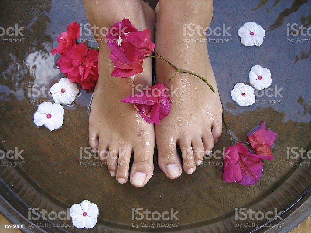 Foot Bath 1c royalty-free stock photo