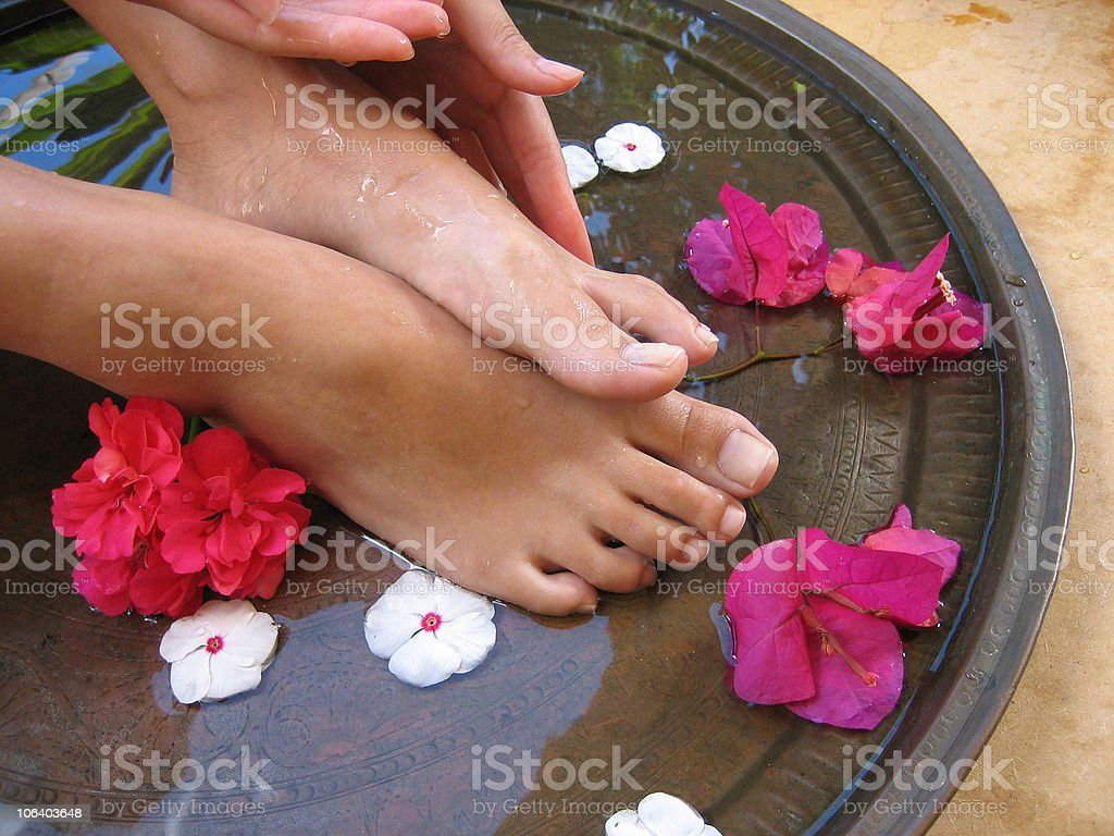 Foot Bath 1e royalty-free stock photo