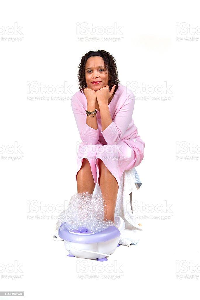 Foot bath royalty-free stock photo