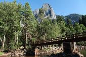 Foot bridge across the Merced River