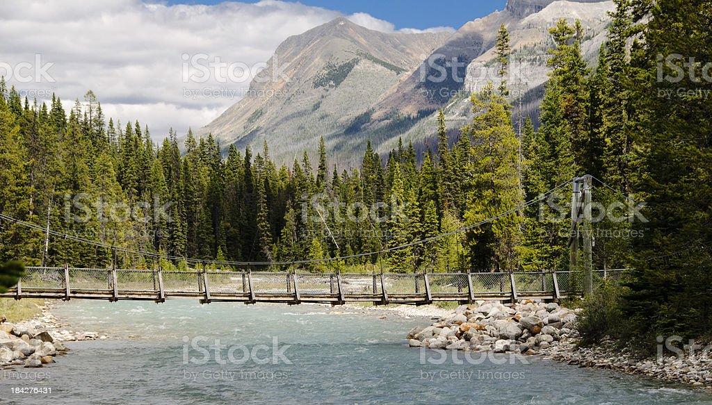 Foot Bridge across Vermillion River stock photo