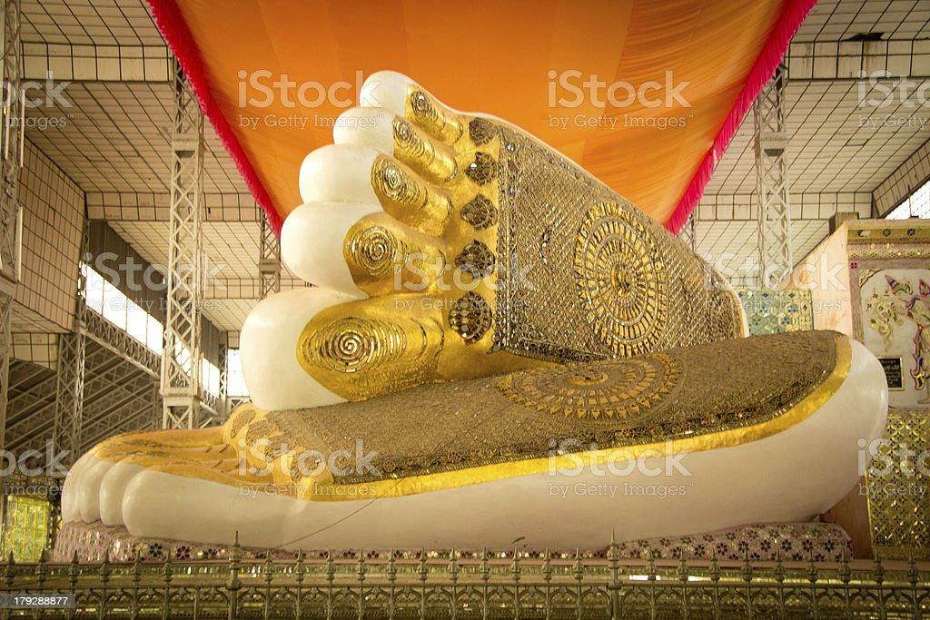 foot buddha royalty-free stock photo