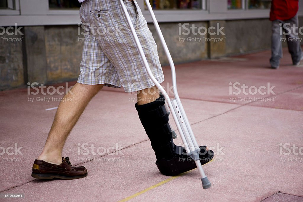 Foot in cast royalty-free stock photo