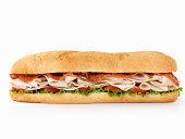 Foot long Turkey Club Submarine Sandwich
