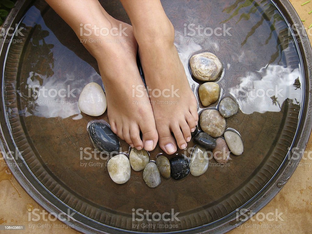 Foot Massage 1 royalty-free stock photo