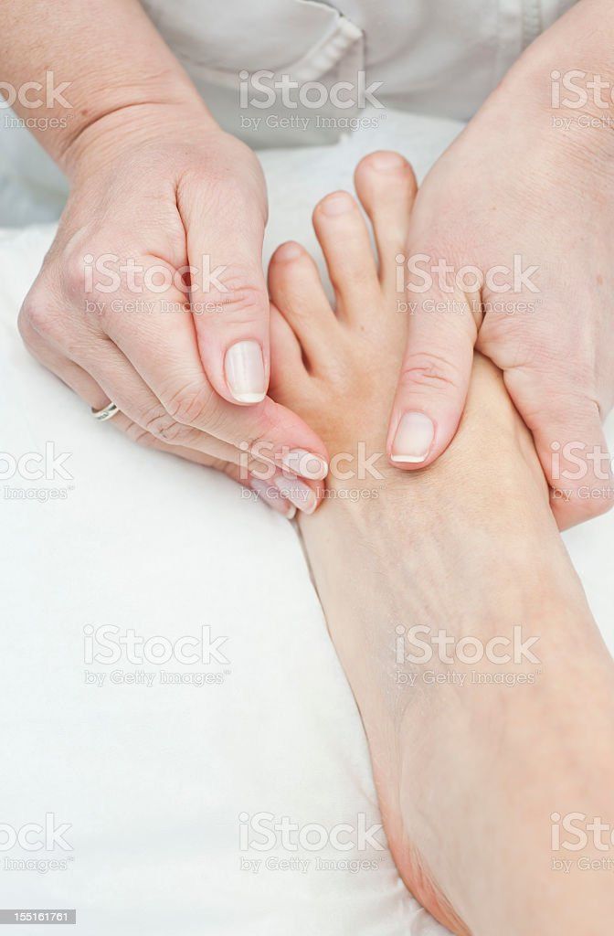 Foot Massage Close Up royalty-free stock photo