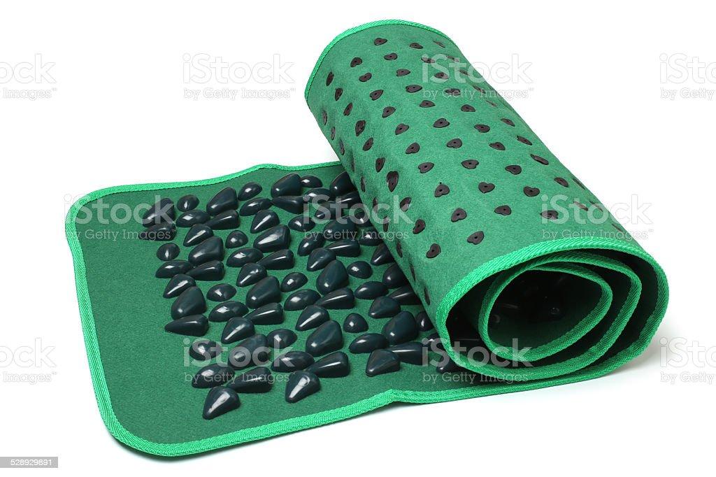 Foot massage mat (stone road) stock photo