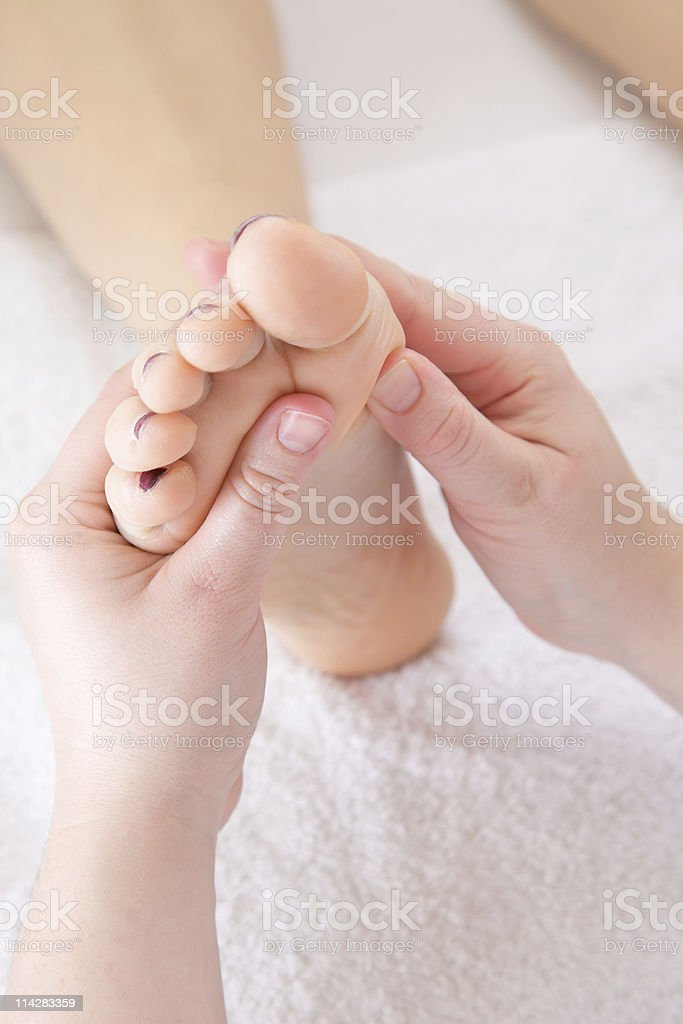 Foot Massage... royalty-free stock photo