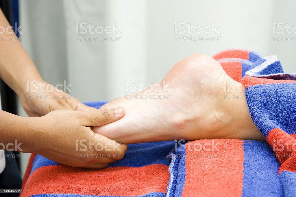 Foot massage royalty-free stock photo